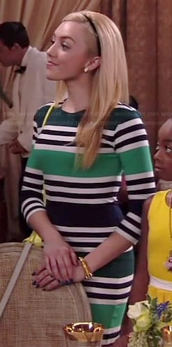 Emma's green striped bodycon dress on Jessie