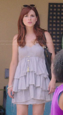 Gretchen's grey tiered dress on You're the Worst