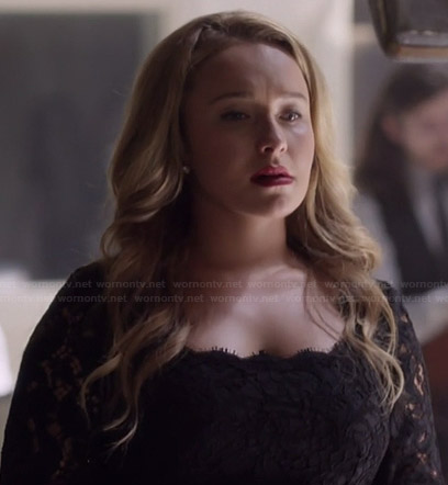 Juliette's black lace dress on Nashville