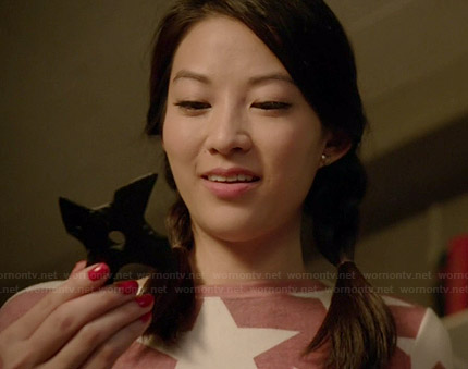 Kira's pink star sweatshirt on Teen Wolf