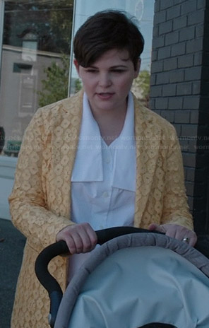 Mary's yellow lace coat on Once Upon a Time