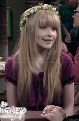 Maya's pink embroidered hippie top on Girl Meets World