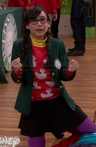 Smackle's red duck sweater on Girl Meets World