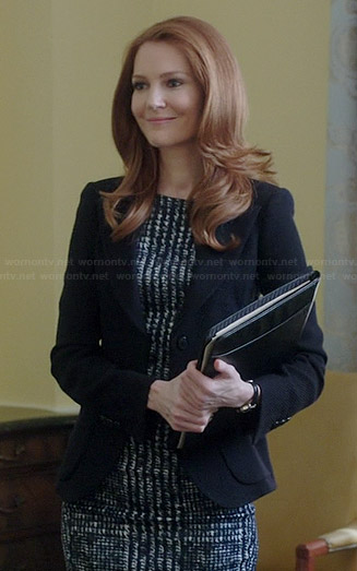 Abby's checked dress on Scandal
