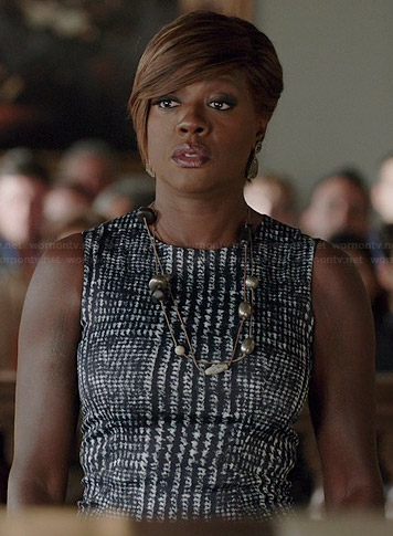 Annalise's houndstooth dress on How to Get Away with Murder