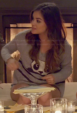 Lucy Hale's panda sweater on Pretty Little Liars