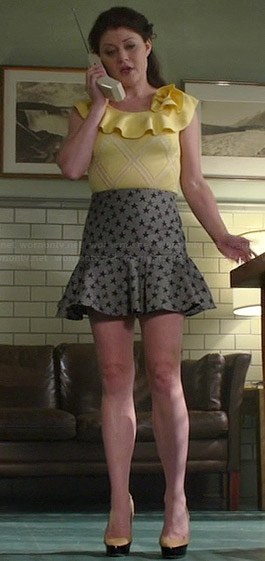 Belle's yellow ruffle top and star print skirt on Once Upon a Time