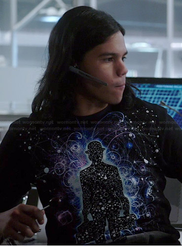 Wornontv cisco s space graphic tee on the flash carlos for Show pool cisco