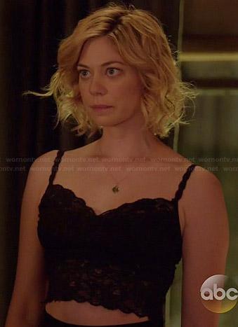 Dana's black lace bralette on Manhattan Love Story