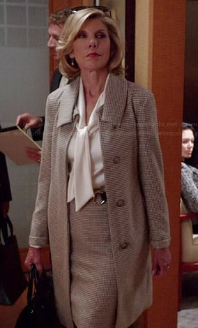 Diane's houndstooth coat on The Good Wife