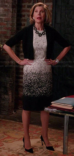 Diane's ombre printed dress on The Good Wife
