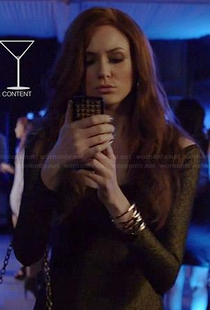 Eliza's gold long sleeved dress on Selfie