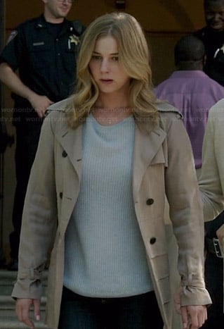 Emily's tiered trench coat on Revenge