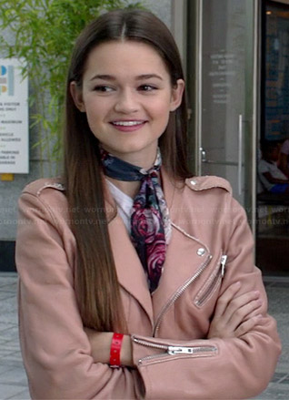 Emma's pink leather jacket on Red Band Society
