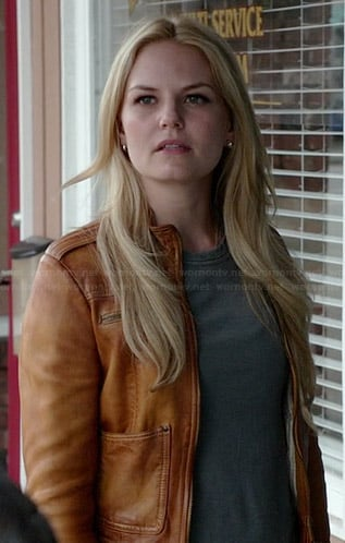Emma's tan leather jacket on Once Upon a Time
