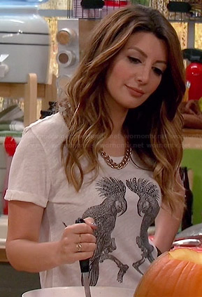 Jane's bird tee on Mulaney