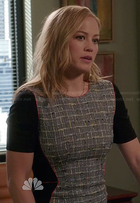 Julia's tweed front dress on Parenthood