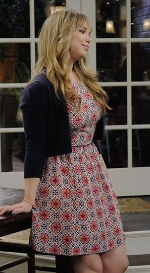 Kristin's printed a-line dress on Last Man Standing