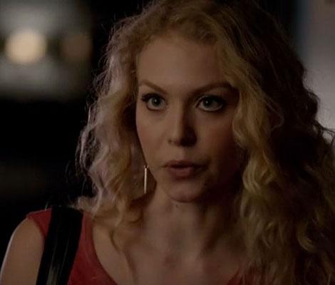 Liv's gold dagger earrings on The Vampire Diaries