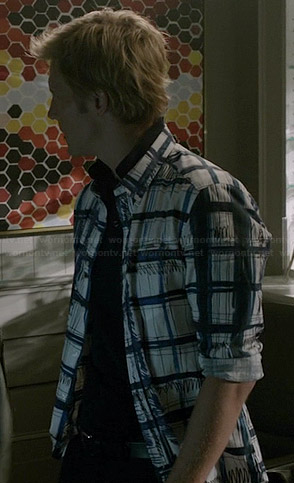 Nolan's scribble check print shirt on Revenge