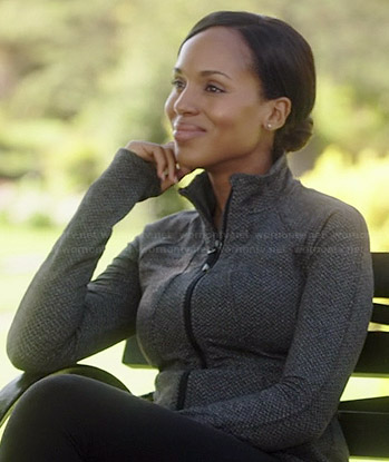 Olivia's grey running jacket on Scandal