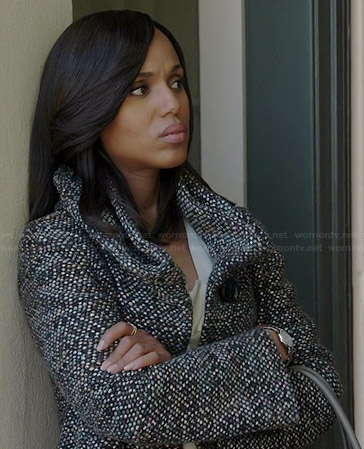 Olivia's grey tweed coat on Scandal