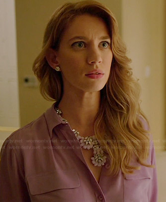 Petra's purple pocket blouse on Jane the Virgin