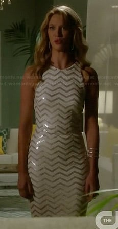 Petra's sequin zig zag dress on Jane the Virgin