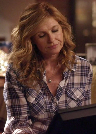 Rayna's ombre plaid shirt on Nashville