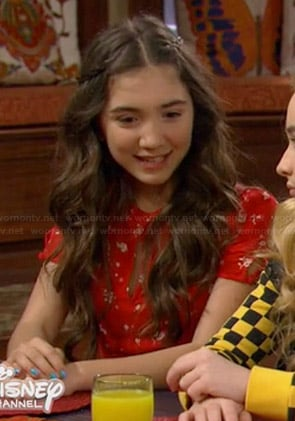 Riley's red floral dress on Girl Meets World