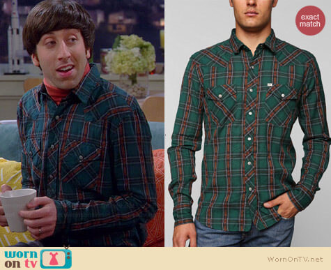 Salt Valley Carver Western Shirt worn by Howard Wolowitz (Simon Helberg) on The Big Bang Theory