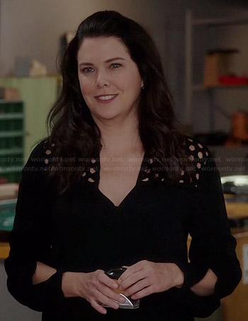 Sarah's black long sleeved cutout dress on Parenthood