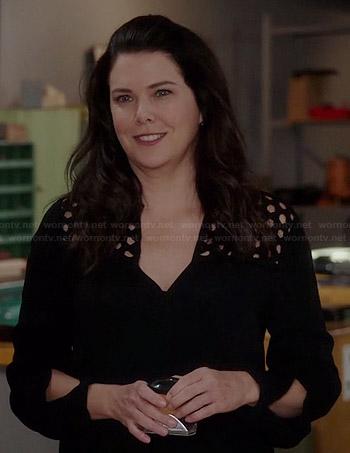 Sarah's black long sleeved cutout dress on Parenthood