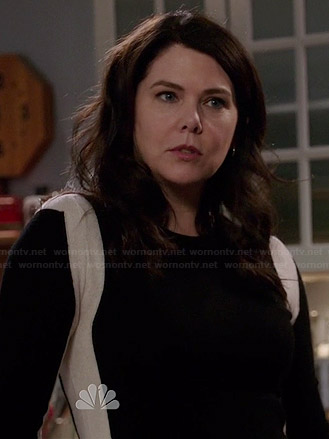"Sarah's colorblock ""Sometimes 40"" sweater on Parenthood"