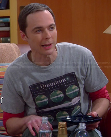 Sheldon's grey Quantum T-shirt on The Big Bang Theory