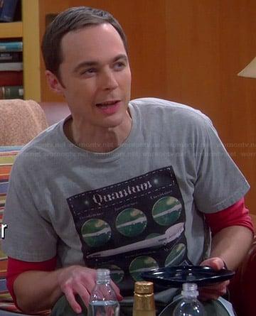 Sheldon's grey Quantum T-shirt on The Big Bang Theory