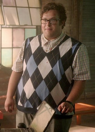 Sylvester's blue argyle sweater vest on Scorpion