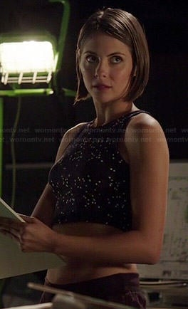 Thea's star printed crop top on Arrow
