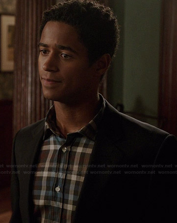 Wes's brown and blue checked shirt on How to Get Away with Murder