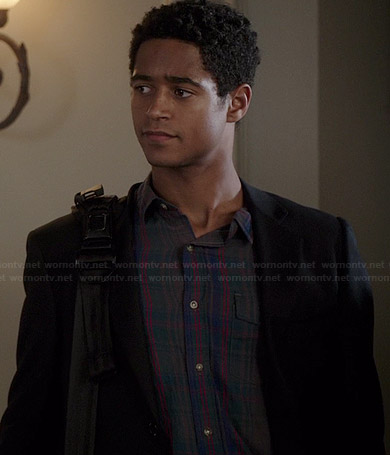Wes's grey, red and green plaid shirt on How to Get Away with Murder