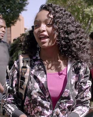 Zoey's floral Adidas jacket on Black-ish