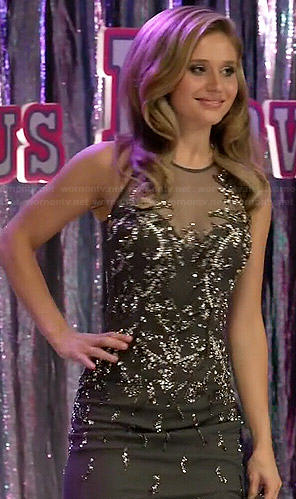 Amy's grey embellished pageant gown on Faking It