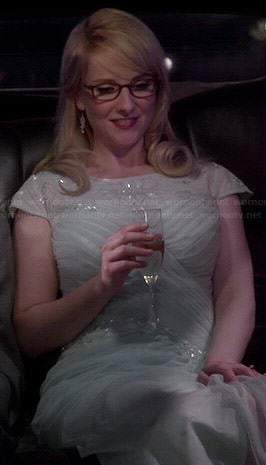 Bernadette's mint cap sleeve prom dress on The Big Bang Theory