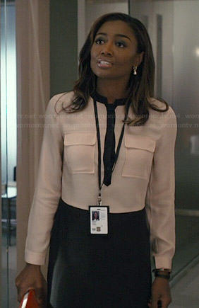 Daisy's two tone shirtdress on Madam Secretary