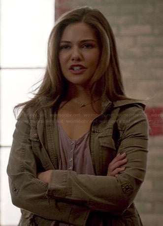 Davina's army green jacket on The Originals