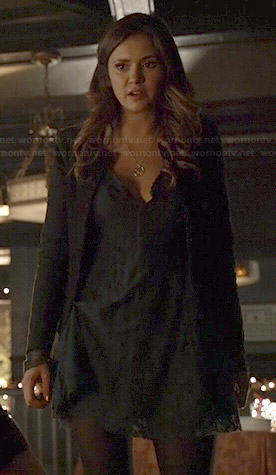 Wornontv Elena S Teal Green Lace Dress On The Vampire