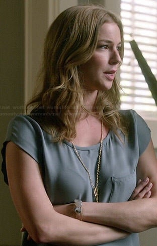 Emily's steel blue top on Revenge