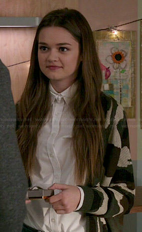 Emma's camo cardigan on Red Band Society