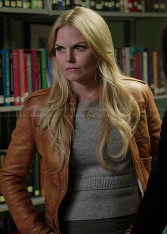 Emma's grey layered sweater on Once Upon a Time
