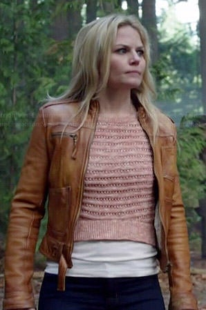 Emma's pink cropped sweater on Once Upon a Time